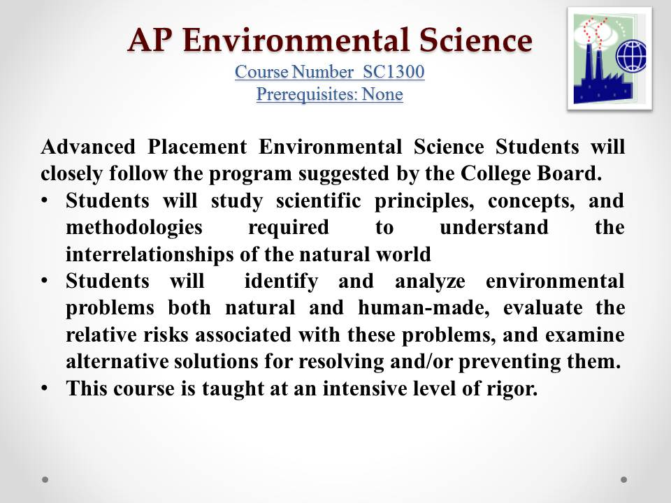 ap environmental science past essays