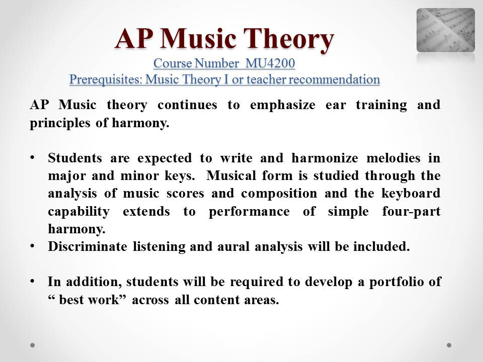 Image Result For Music Theory Syllabus